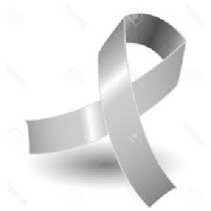 Silver awareness ribbon